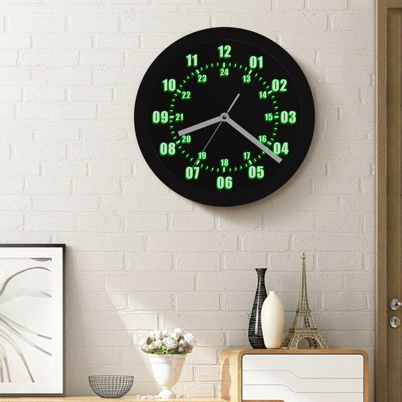Mancave Wall Decorations - Silent Wall Clock, LED Wall Clocks .