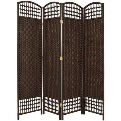 4-Panel Room Divider Color: Dark Mocha by Bay Isle Home