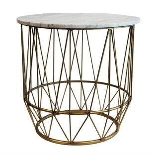 Devereaux Metal & Marble End Table by Bra..