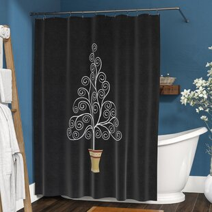 The Holiday Aisle Filigree Tree Shower Curtain