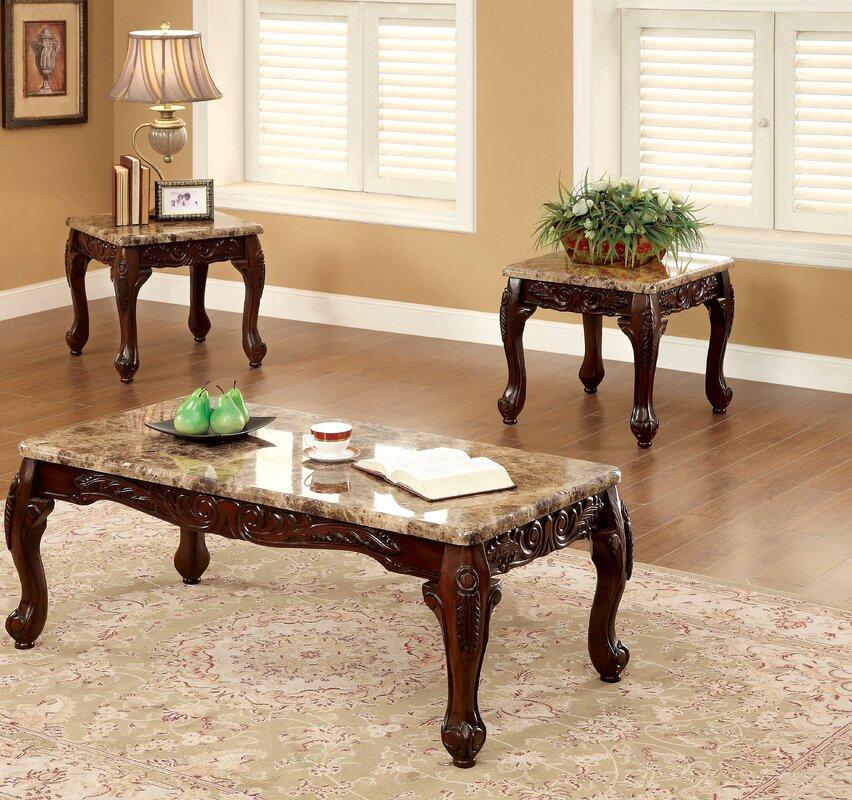 astoria grand albertus 3 piece coffee table set & reviews   wayfair