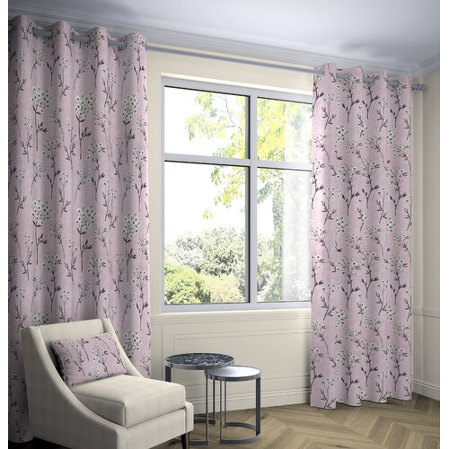 Prospe Room Darkening Eyelet Thermal Curtains Fleur De Lis L