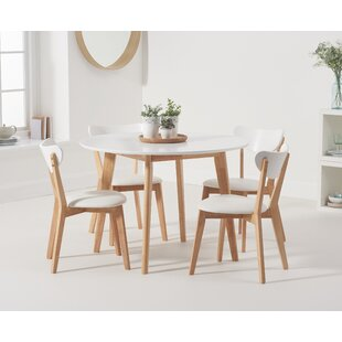 Darlene Dining Set With 4 Chairs By Fjørde & Co