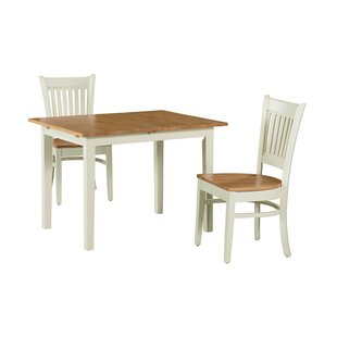 Shipe 3 Piece Extendable Solid Wood Dining Set August Grove