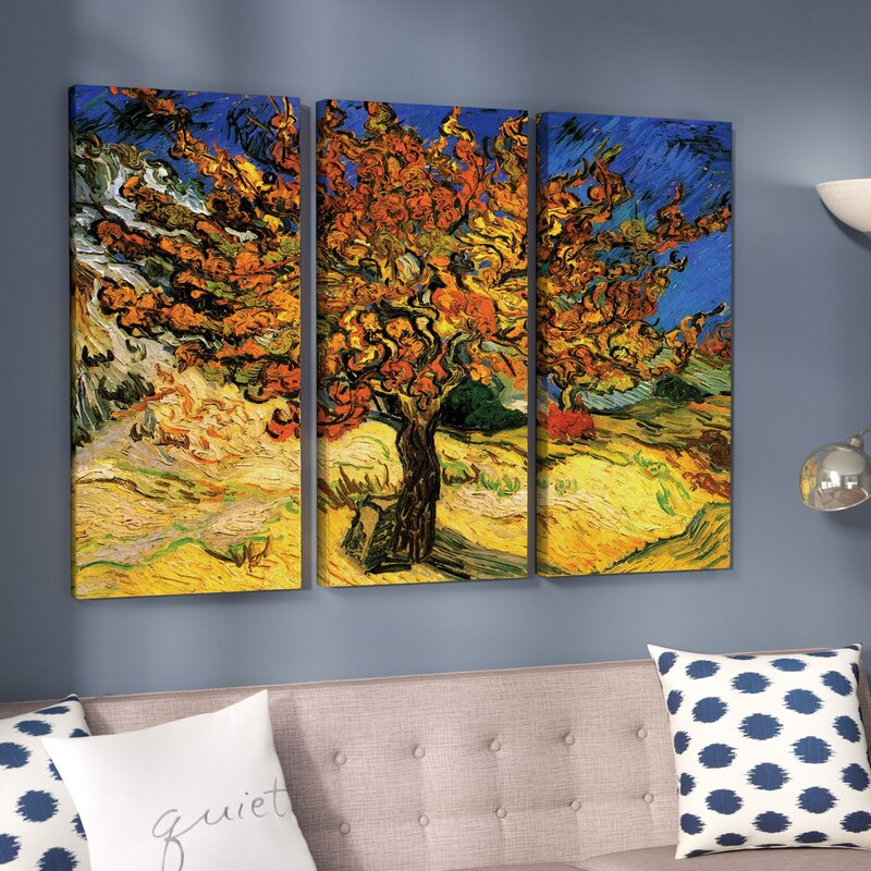 Alcott Hill Mulberry Tree By Vincent Van Gogh 3 Piece