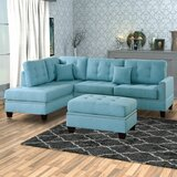 Thamann Reversible Modular Sectional with Ottoman by Red Barrel Studio®