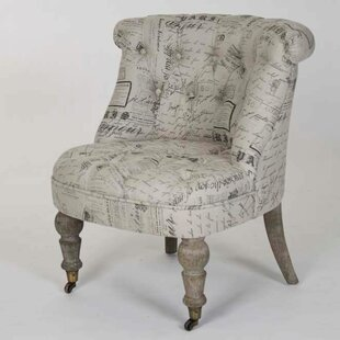 Cajsa Natural Linen Slipper Chair by One Allium Way