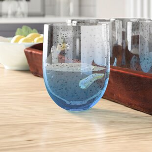 Ismene Bubble 16 oz. Plastic Everyday Glasses (Set of 6)