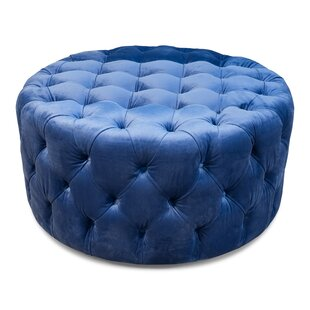 Lynne Round Tufted Table Ottoman by Everly Quinn