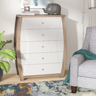 Volant Transitional 5 Drawer Accent Chest