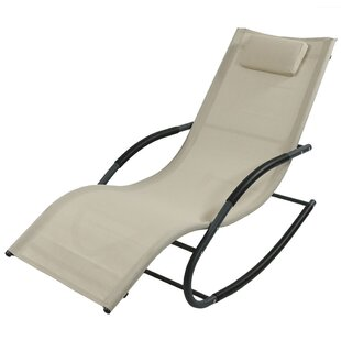 Winston Porter Ware Rocking Wave Chaise Lounge with Pillow