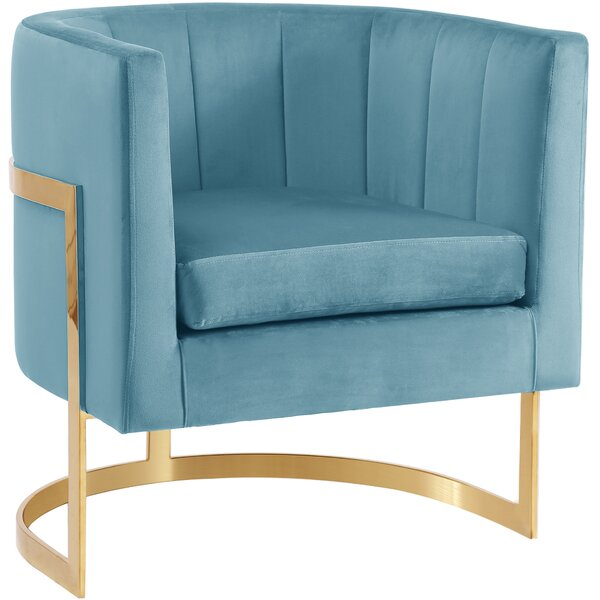 Awesome Modern Contemporary Aqua Accent Chair Allmodern Machost Co Dining Chair Design Ideas Machostcouk