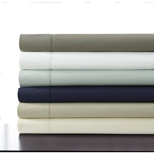 tribeca living 500 thread count 100 cotton percale extra deep pocket sheet set u0026 reviews wayfair