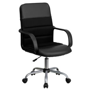 Genuine Leather Mesh Task Chair by Offex 2019 Coupon