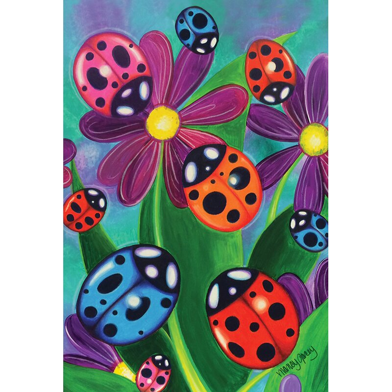 Toland Home Garden Colorful Ladybirds And Ladybugs Polyester 2 4 X 3 4 Ft House Flag Wayfair