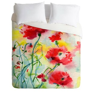 East Urban Home Fine Art If Poppies Could Only Speak Duvet Cover Set