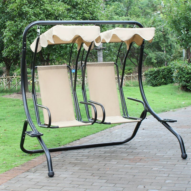 Porch Swing with Stand AdecoTrading Porch Swing