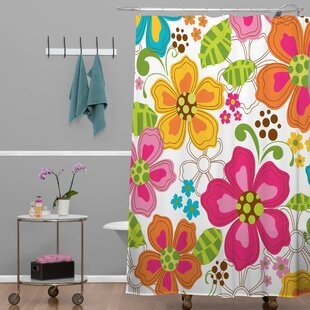 Rene Blooms Shower Curtain By Latitude Run