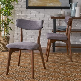 Hoopes Mid Century Modern Upholstered Dining Chair (Set of 2) George Oliver