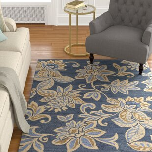 Where buy  Eberhard Hand-Tufted Blue/Off-White Area Rug By Charlton Home