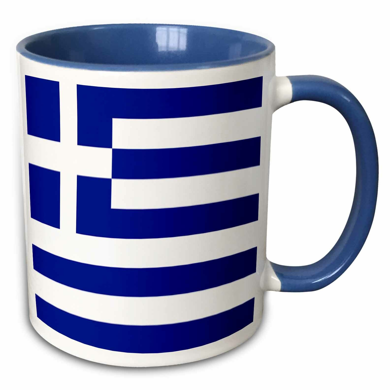 Winston Porter Godoy Greek Flag Coffee Mug Wayfair
