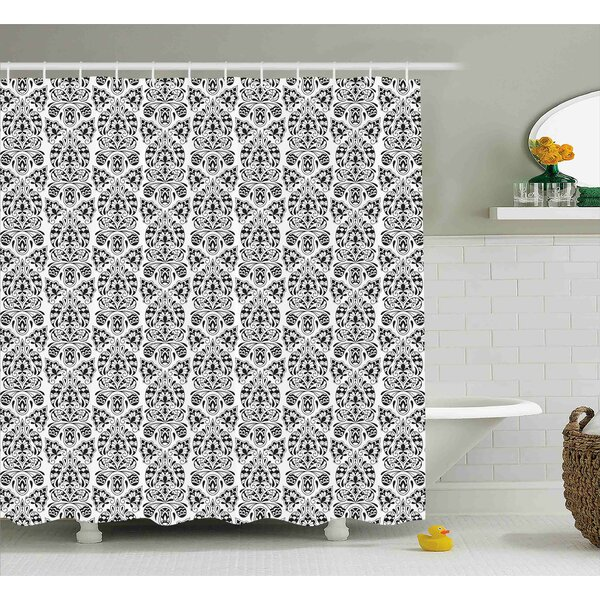 Rosdorf Park Annalise Floral Paisley Oriental Shower Curtain | Wayfair