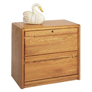 Contemporary Medium Oak 2-Drawer Lateral File