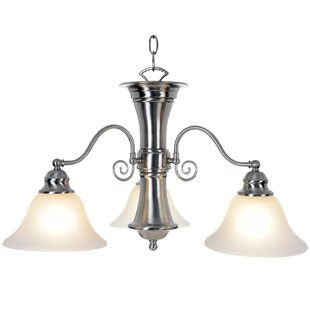 Wellington 3-Light Shaded Chandelier by Monument