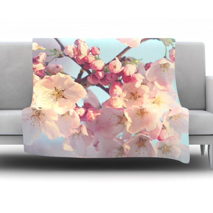 Waiting for Spring by Sylvia Cook Fleece Throw Blanket
