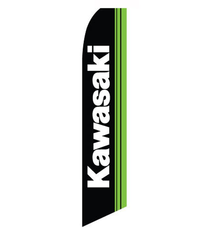 Neoplex Kawasaki Polyester 138 X 30 In Feather Banner Wayfair