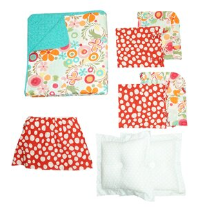 Omega 100% Cotton 8 Piece Reversible Quilt Set