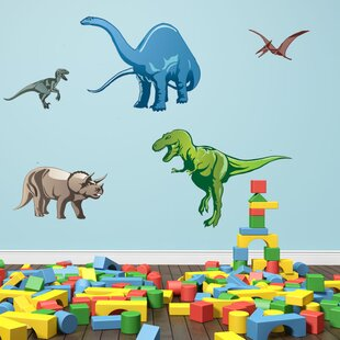 Colorful Dino Wall Decal  sc 1 st  Wayfair & Dinosaurs Wall Decals Youu0027ll Love   Wayfair