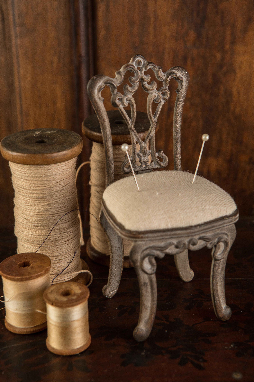 Susana Pewter Chair Pin Cushion