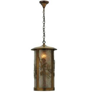 Fulton Lone Pine 1-Light Lantern Pendant by Meyda Tiffany