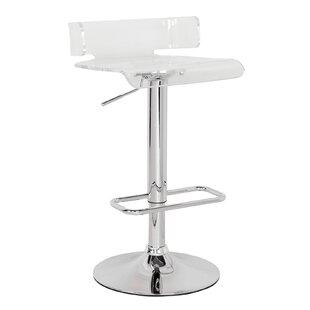 Flesher Adjustable Height Swivel Bar Stoo..