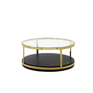 Pandro Glass Top Coffee Table With Storage By Canora Grey