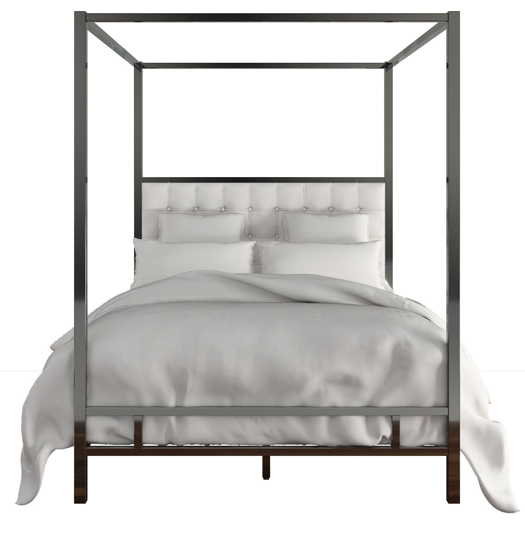 Lovely White Canopy Full Beds