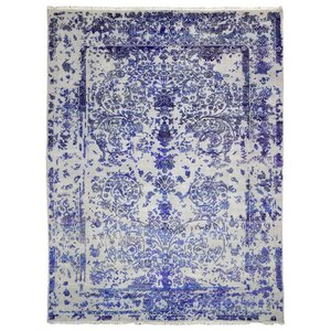 Easthampton Hand-Woven Wool Blue Area Rug