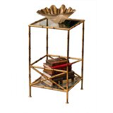 Keven Glass Top End Table with Storage by Bayou Breeze