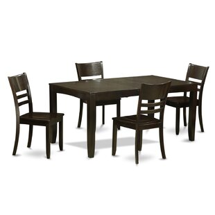 Lockmoor 5 Piece Dining Set by Red Barrel..