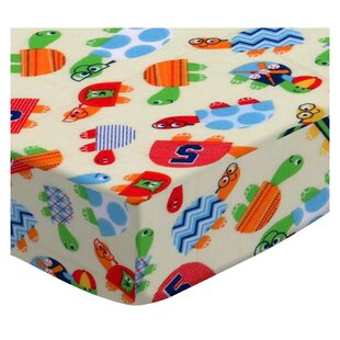 Check Prices Turtle Fun Yellow Pack and Play Crib Sheet BySheetworld
