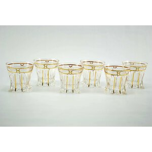Square Based Double Old Fashion Glasses (Set of 6)