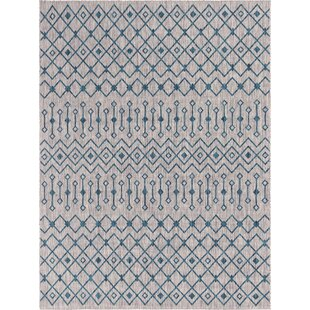 Kailani Blue/Gray Indoor/Outdoor Area Rug