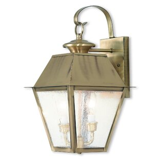 Best Review Cynda 2-Light Outdoor Wall Lantern By Darby Home Co