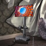 Angle and Height Adjustable Multi-Function Floor Stand Mount for 32-55 Screens by AUXLEY