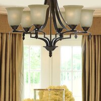 Alcott Hill Glenwood 6-Light Shaded Chandelier