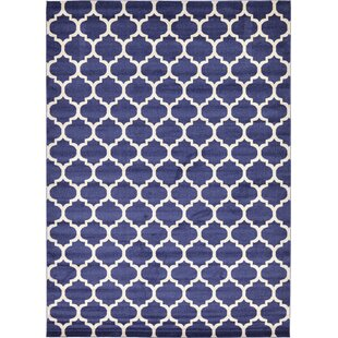 Best Reviews Coughlan Blue/Ivory Area Rug By Charlton Home