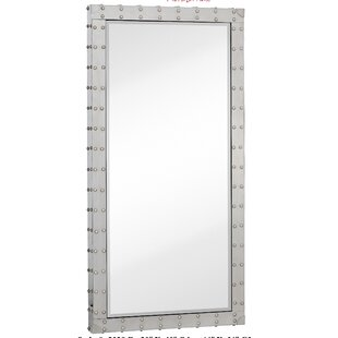 Modern Stainless Steel Rectangular Beveled Glass Wall Mirror By Majestic Mirror