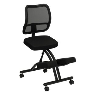 Mid-Back Mesh Kneeling Chair with Dual Wheel by Offex