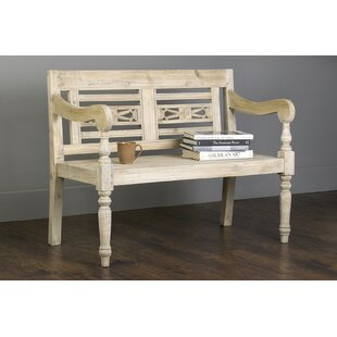 Scroggs Carved Wood Bench